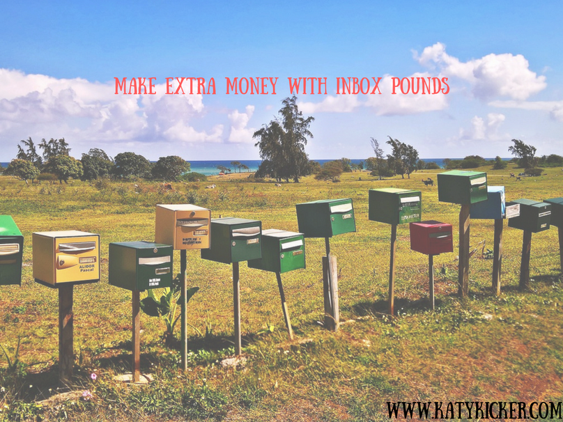 Mailboxes lined up outside and a text overlay that says make money with Inbox Pounds