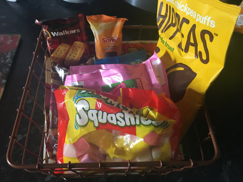A basket of sweet treats and biscuits