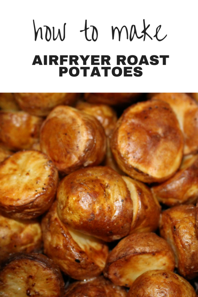 Finished air fryer roast potatoes