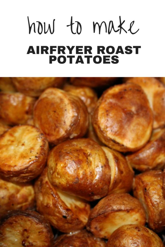 Finished air fryer roast potatoes