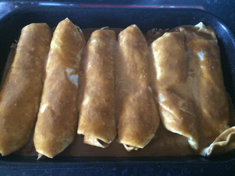 A look at my enchiladas I made!