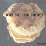 A stack of dairy free fruit pancakes