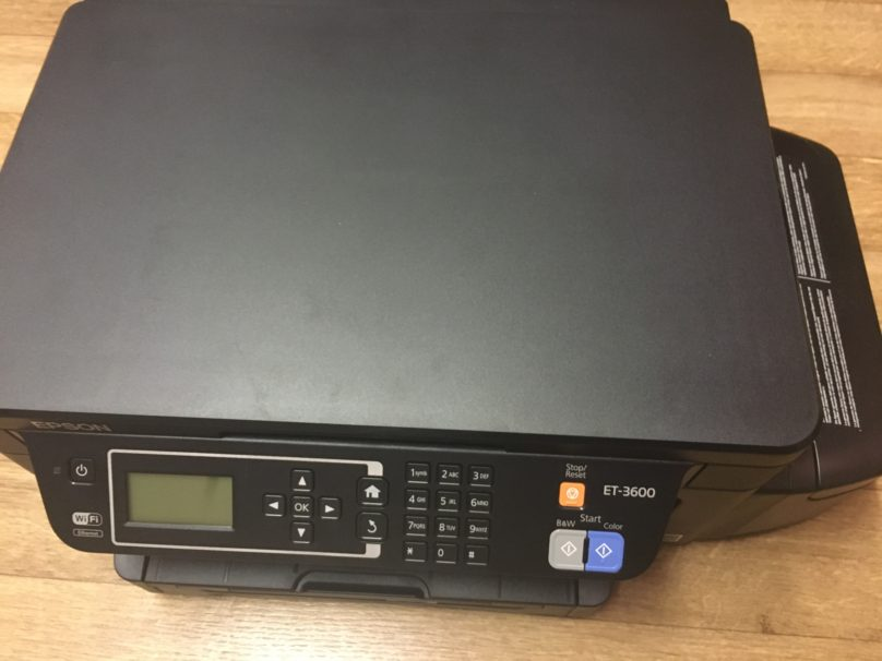 A close up of the ET-3600 printer