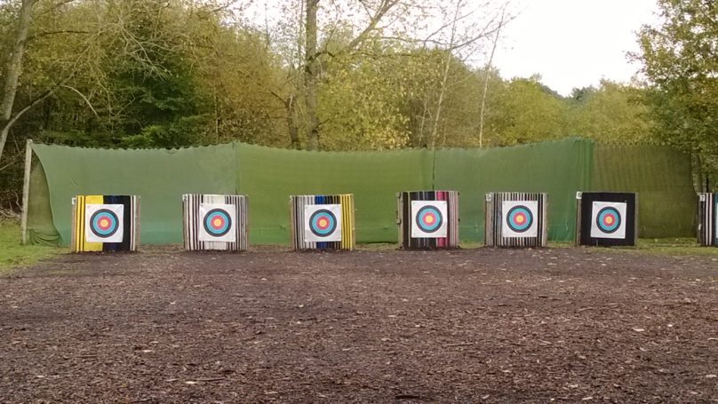 Archery targets outside
