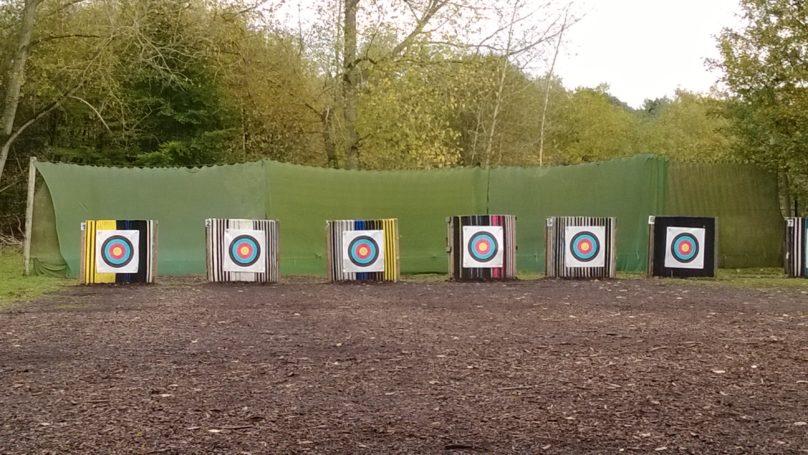 Archery targets outside