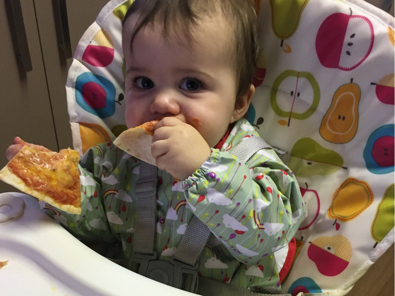 The flavour-led weaning cookbook - Daisy trialling the recipe