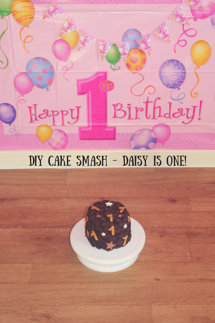 A look at our DIY cake smash where Daisy turned one and we let her loose with a lovely chocolate cake from Just Love Food Company