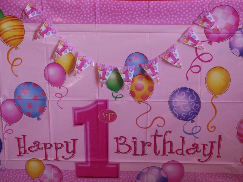 A look at the background from our DIY cake smash