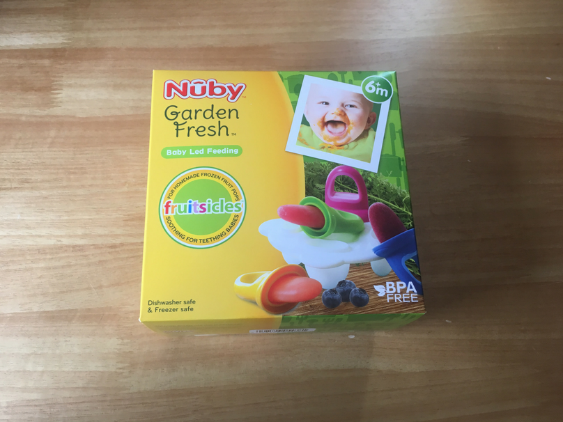 Dairy free fruit lollies - A look at the Nuby UK fruitsicles mould that I used
