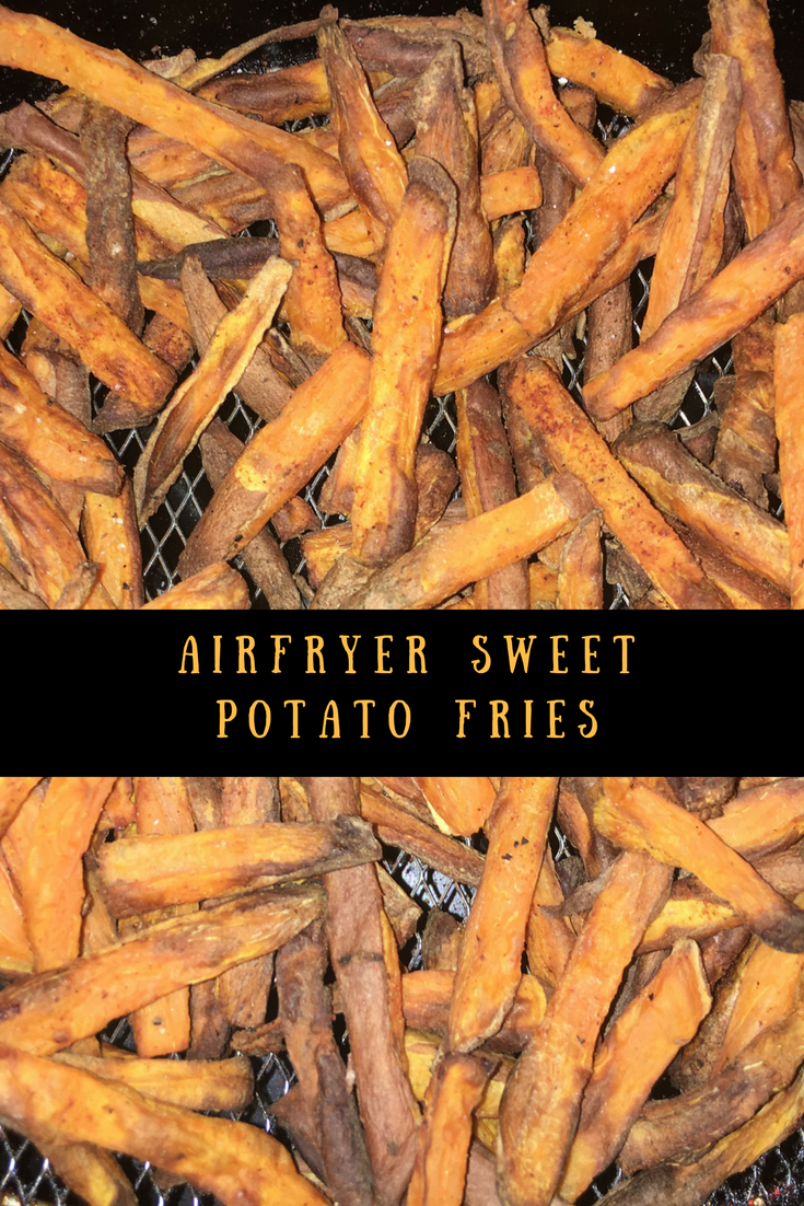 My airfryer sweet potato fries are healthy, tasty, crispy and delicious. A great alternative to white potatoes too