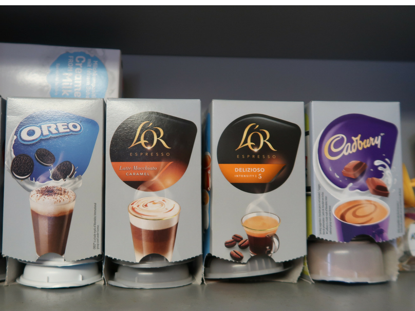 Tassimo coffee pods - oreo, L'or Latte Macchiato Caramel, Delizioso and Cadbury hot chocolate pods