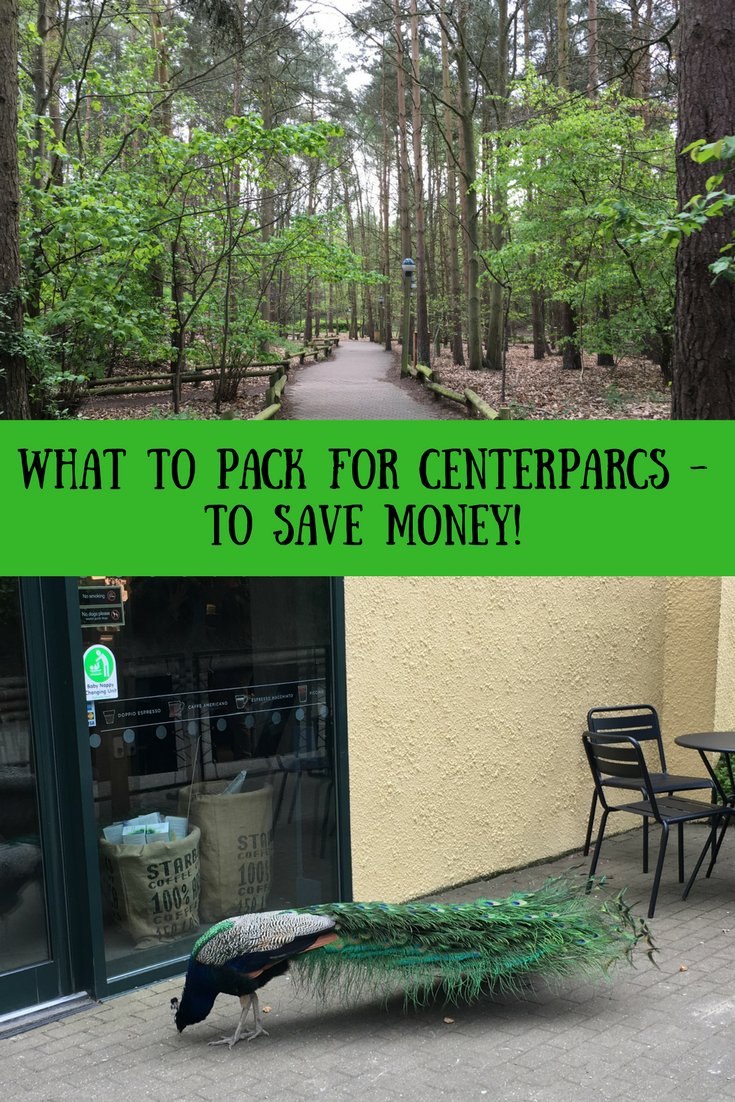 What to pack for Centerparcs - to save money. Save money on self catering holidays, half board holidays, what to pack for a UK holiday or staycation