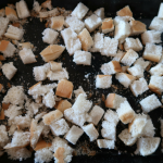 A look at the homemade croutons once prepared