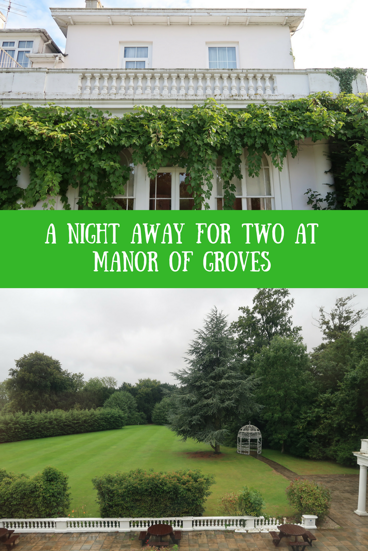 (AD) Manor of Groves hotel, golf course and La Brasserie restaurant. Hotel stays in the South East of England