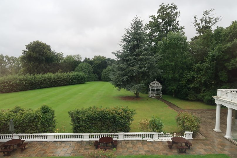The view from our bedroom at Manor of Groves