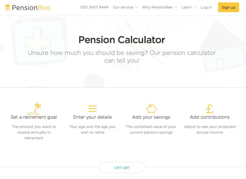 PensionBee Pension Calculator
