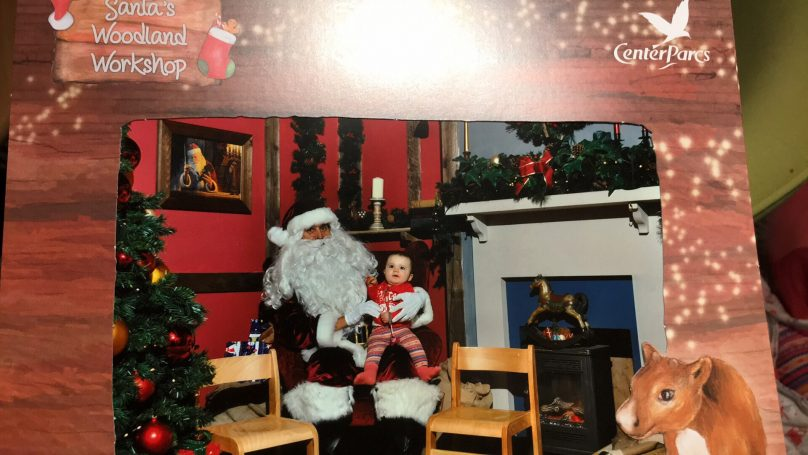 Santa's Woodland Workshop - You get a picture too - here is a look at ours.