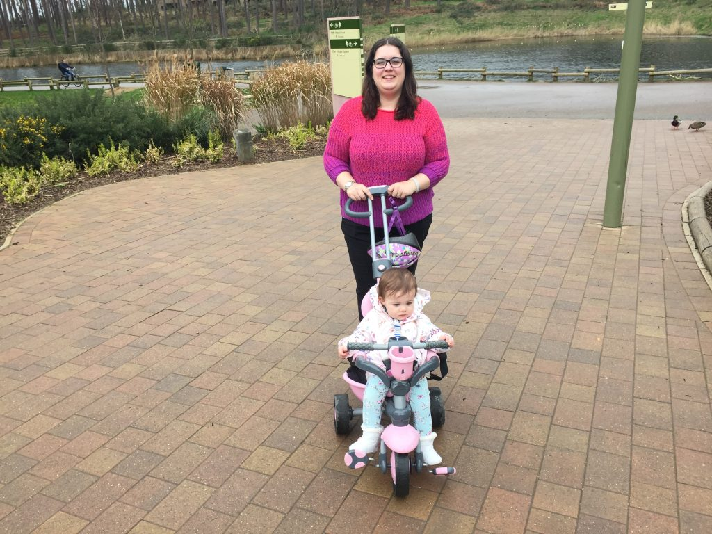 Me and Daisy on holiday in Centerparcs