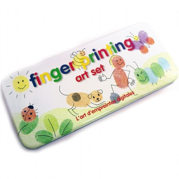 Fingerpainting art set - great gifts for a toddler gift guide