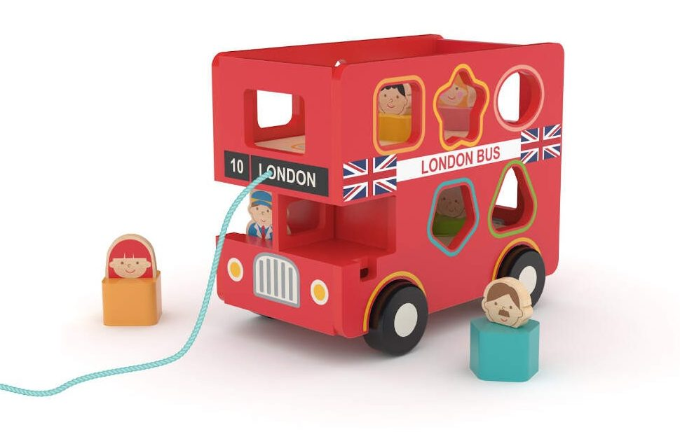 Hape London Bus - great gifts for a toddler gift guide