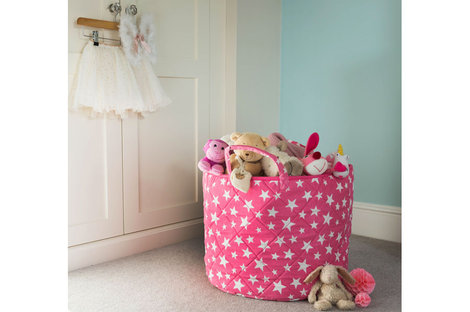 Pink Star toy basket Room To Grow - great gifts for a toddler gift guide