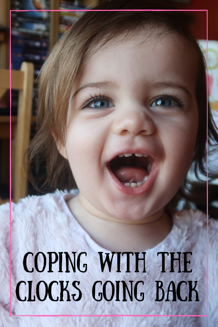 Coping with the clocks going back when you have a small child. #toddler #parenting #childhood #parents #autumn