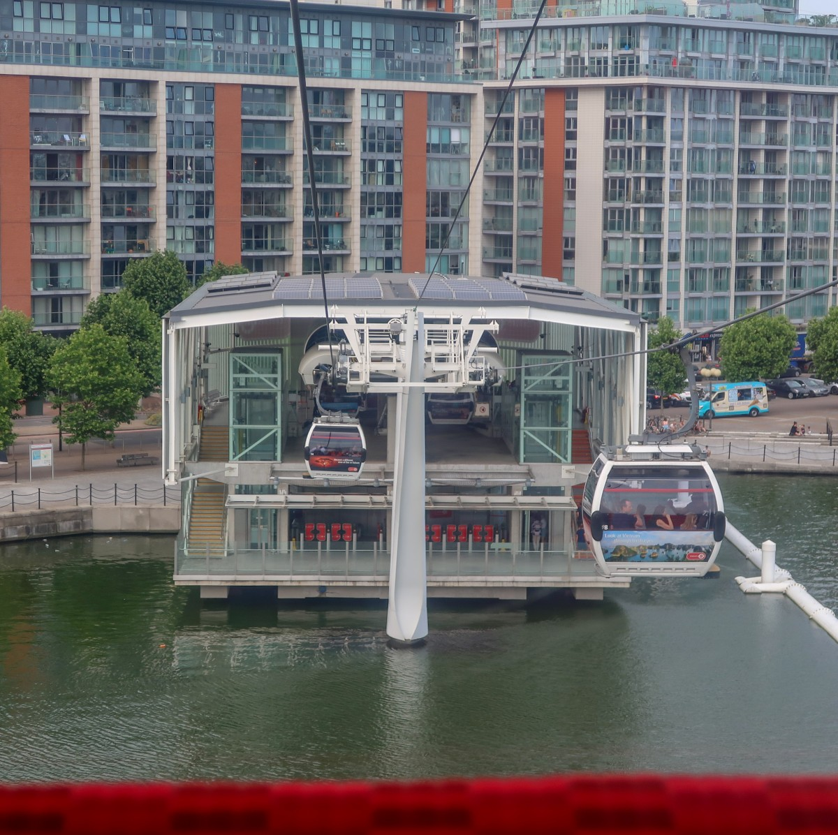 Finishing our journey on the Emirates airline cable car
