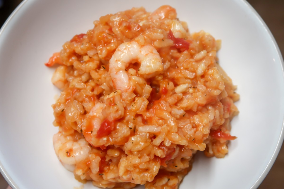 A look at the Slow cooker chicken and prawn paella when finished