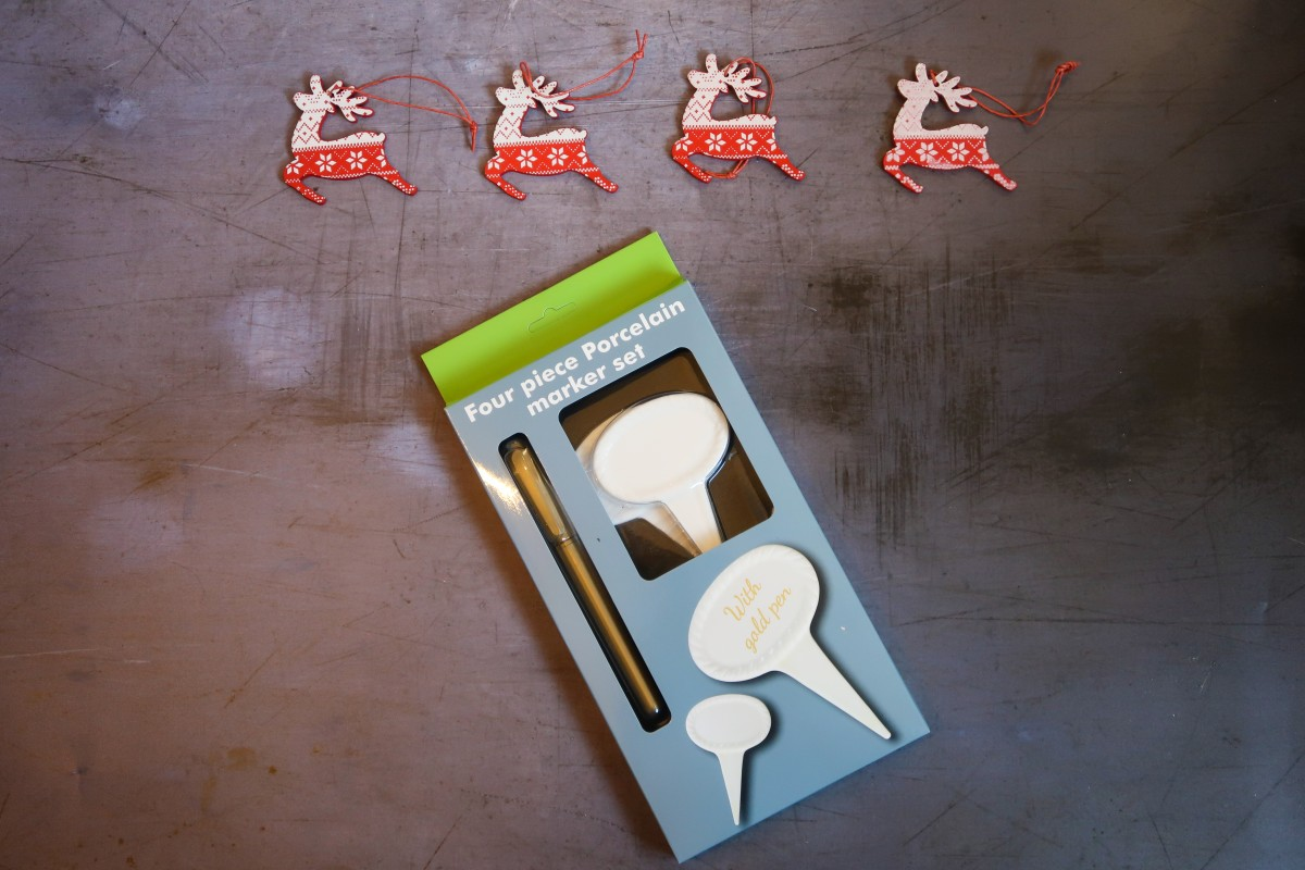 Tru Bamboo porcelain cheese markers