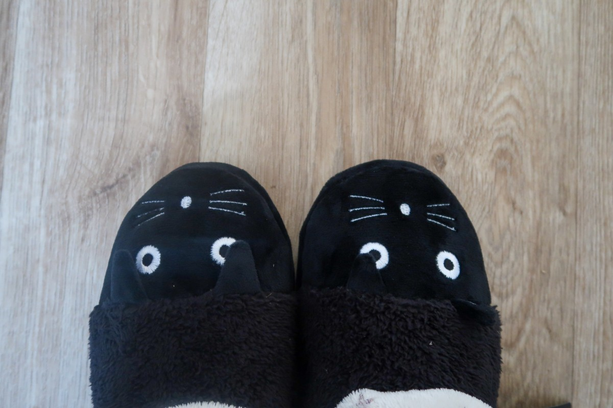 Super cute cat slippers from Tuk