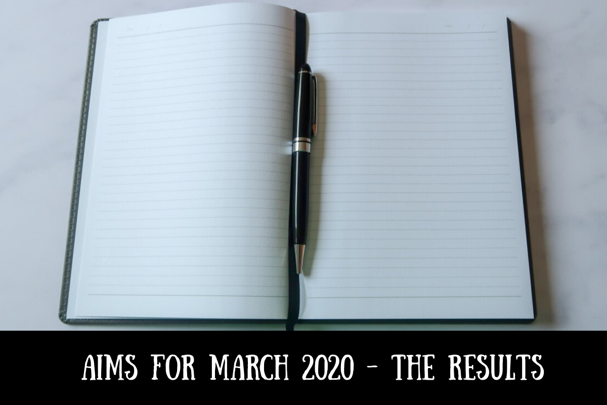 Aims for March 2020 - the results
