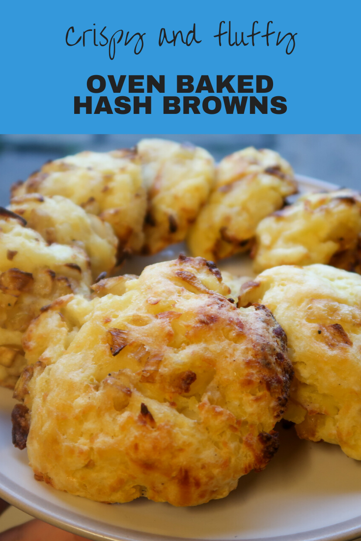 Oven baked hash browns in around 30 minutes. Crispy, delicious, fluffy hash browns with tasty onions.