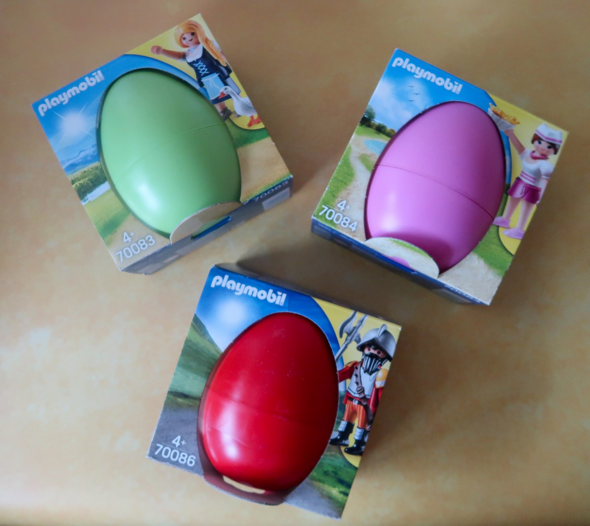 Playmobil Easter Eggs - green, pink and red!