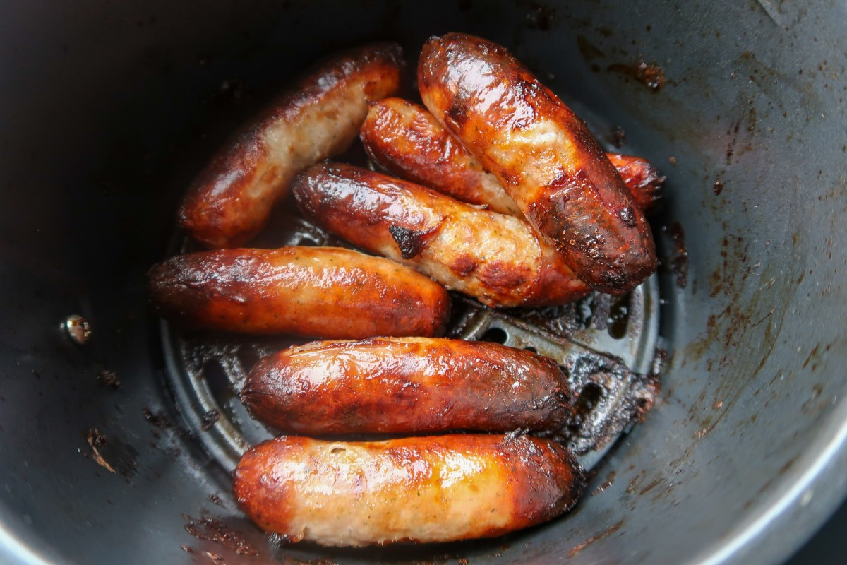 Air fryer sausages