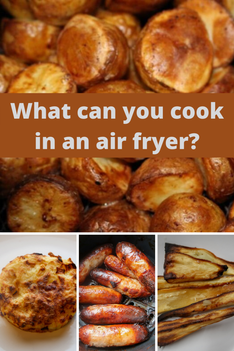 What can you cook in an air fryer? Delicious, crispy air fryer recipes, takeaways and roast dinner accompaniments. #AirFryer #AirFrying #AirFryerRecipes #FriedFood #AirFriedFood #Fakeaway #RoastDinner #RoastPotatoes #AirFry