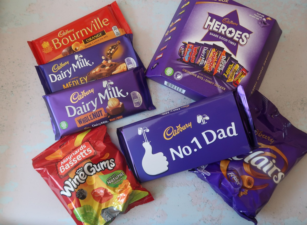 Cadbury Father's Day Gift Set with wine gums, eclairs and Cadburys chocolate bars
