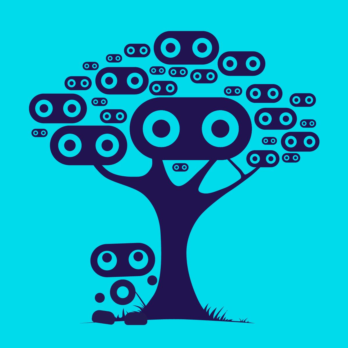 Snoop logos growing on trees