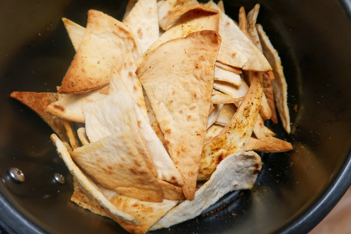 Air fryer tortilla chips