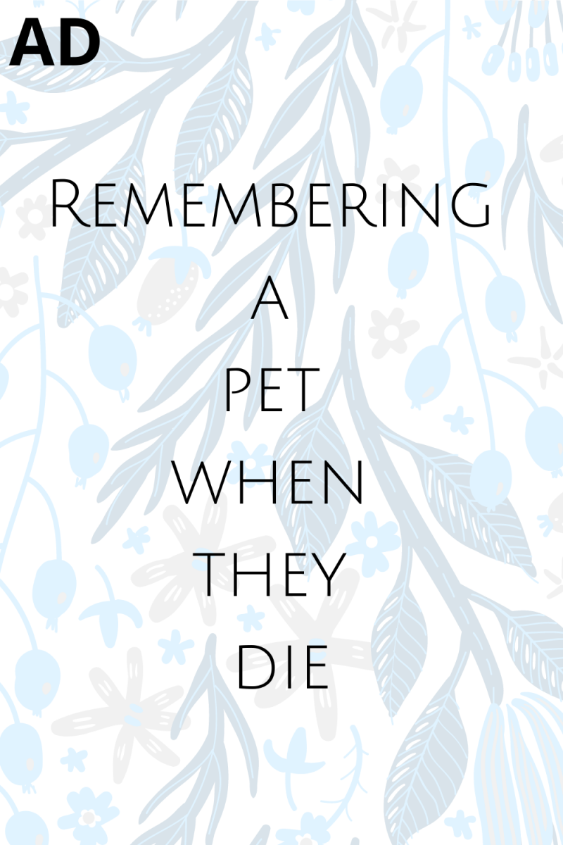 Text: AD Remembering a pet when they die