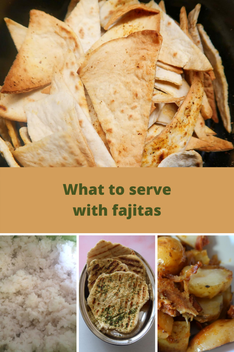 Air fryer tortilla chips, slow cooker rice, no yeast flatbreads and slow cooker chorizo loaded potatoes - what to serve with fajitas