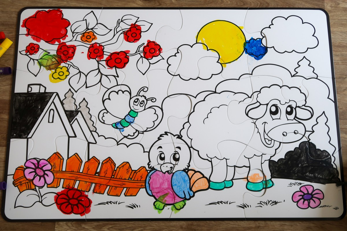 The Paint-A-Puzzle from Little Brian Paint Sticks
