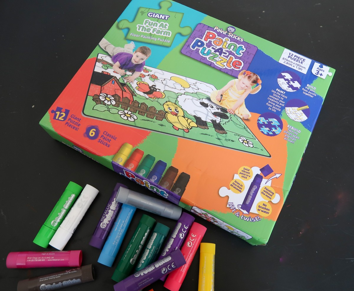 Paint-A-Puzzle from Little Brian Paint Sticks