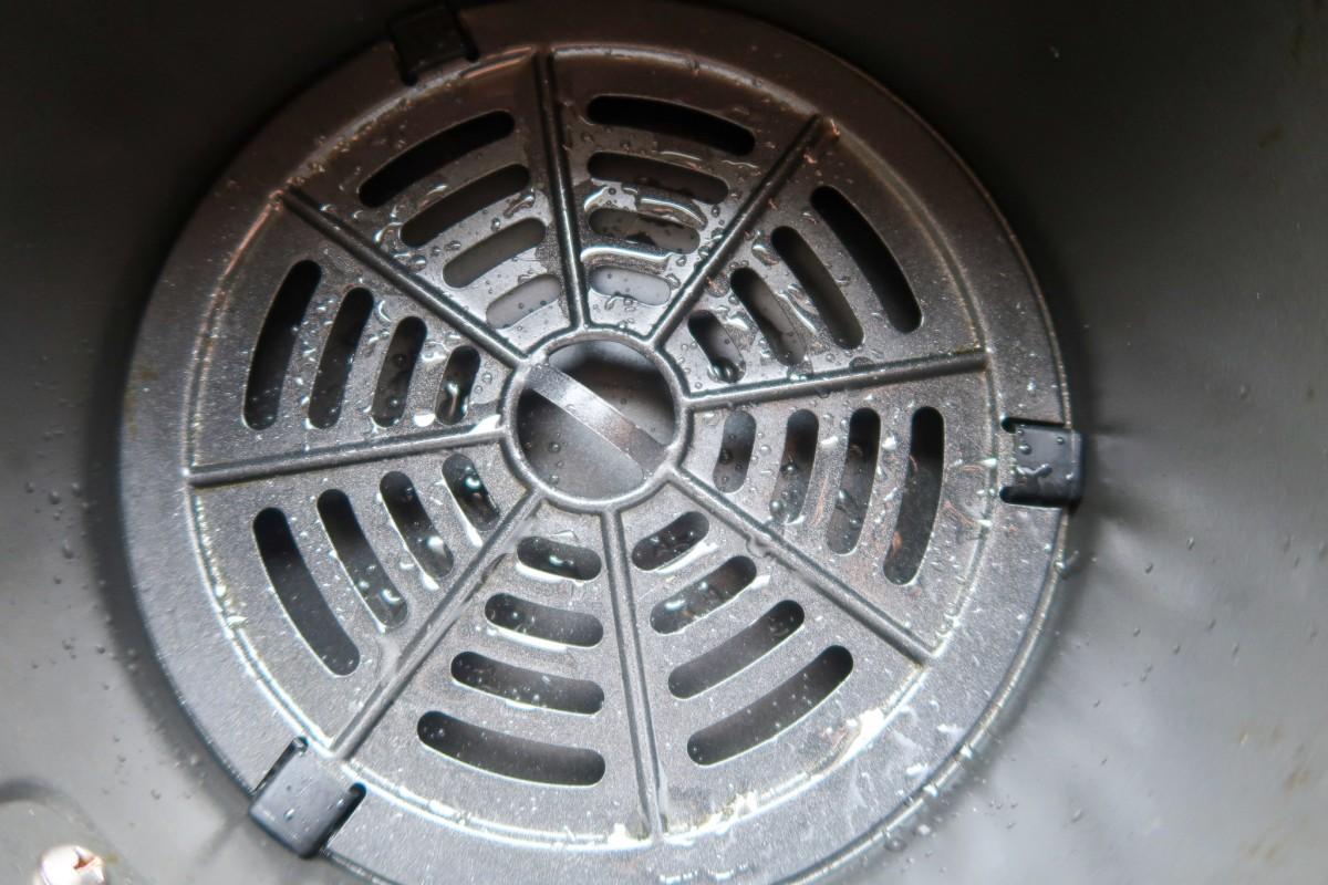 Oiled air fryer basket