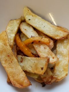 Salt and pepper chips in a bowl ready to eat!