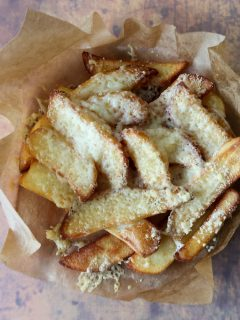 Air fryer cheesy chips