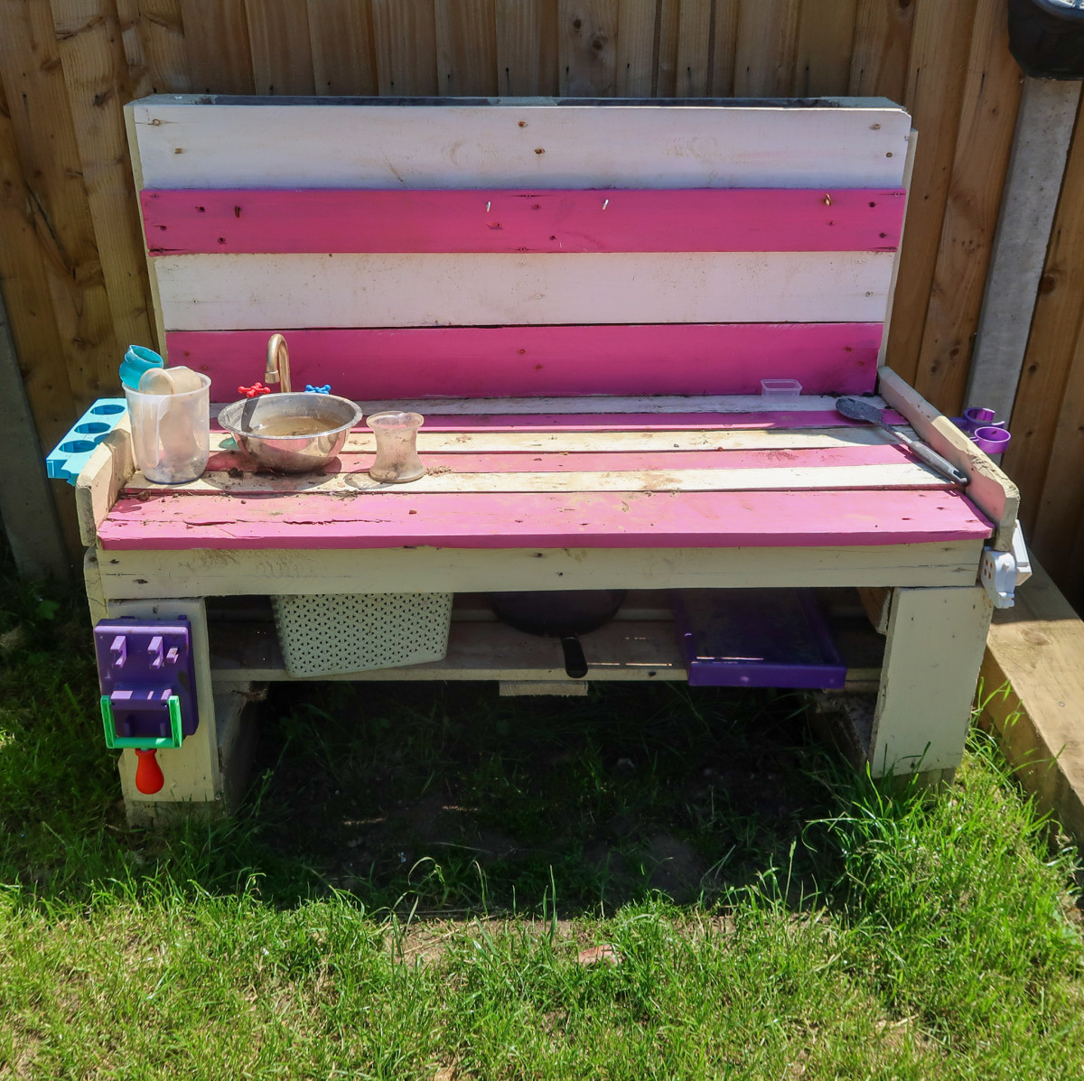 Our homemade mud kitchen