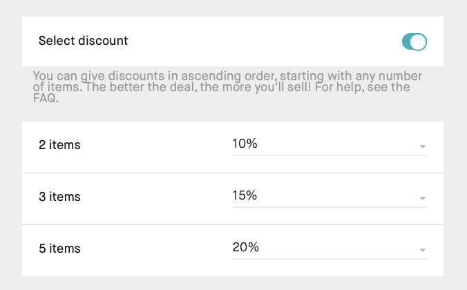 Vinted discount for bundles example