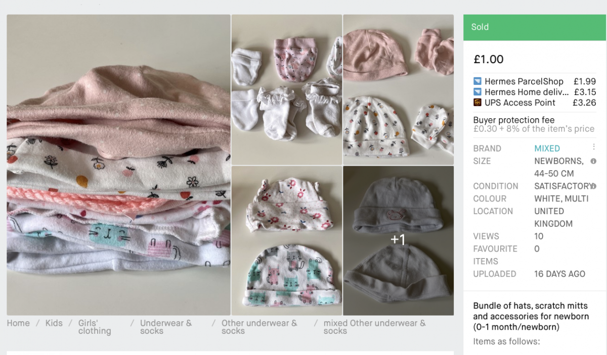 An example of a bundle being sold on Vinted